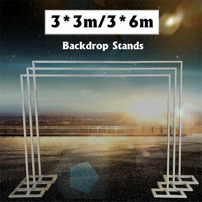 AU 3X6M 3X3M Adjustable Telescopic Curtain Wedding Backdrop Stand Support Frame