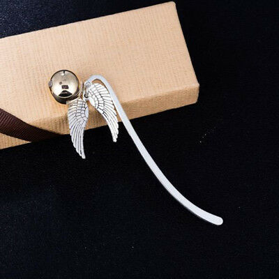 Brang New Classic Wing Snitch Metal Bookmark Tibetan Silver Potterhead Gift
