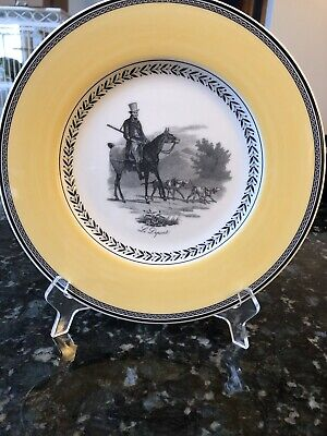 7 Villeroy & Boch Audun Chasse Dinner Plates Germany  slightly used 13.00 each