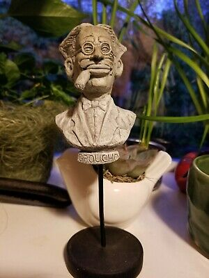 Groucho Marx Initials MG  Resin & Rubberized Articulating Clothes Pin Figurine