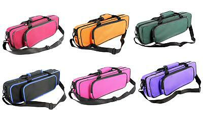 Flute CASE with Shoulder Strap for C foot - Holds piccolo in front pocket!