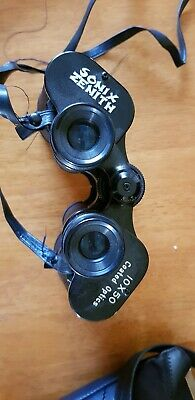 ZENITH 10 X 50 BINOCULARS .with CASE.....COATED LENS ...