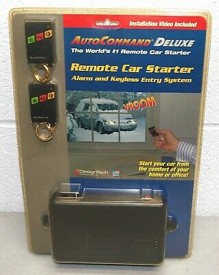 """New! DELUXE w/ 2 REMOTES! AUTO COMMAND """"Remote Car Starter"""" ALARM, KEYLESS ENTRY"""