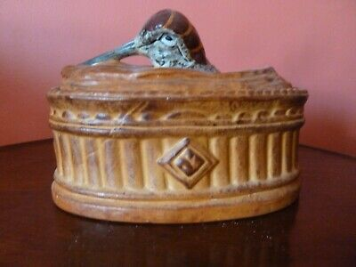 Original Early 20th Century French Pilivite Porcelain Game Pie Dish