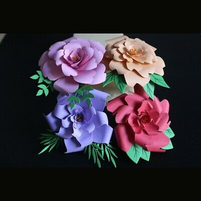 Flowers Leaves Stitched Metal Cutting Dies Scrapbooking Making Stencil Embossing