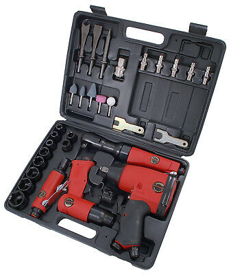 "CT1091 1/2"" Dr Air Tool Kit - Ratchet Impact Wrench Die Grinder Hammer Sockets"