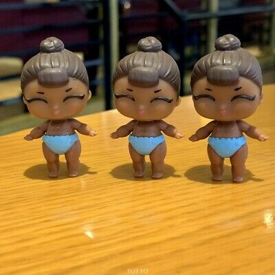 LOT 3X LOL Surprise LiL Sisters L.O.L. MISS BABY glam CLUB doll toy SERIES 2
