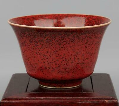 collection China old handmade Kiln red glaze Porcelain cup kangxi mark/ 01