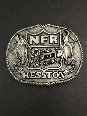Hesston NFR 25th Anniversary Series Rodeo 59 83 Belt Buckle First Ed Limited