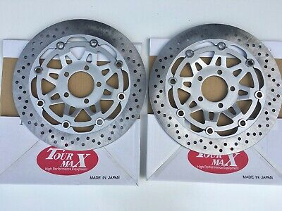 Front Brake Discs  For Kawasaki Zr750 Zephyr 90 - 02  New Made In Japan Tourmax