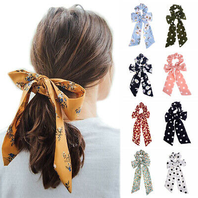 Hairband Ponytail Holder Hair Rope Floral Scrunchies Bow Streamers Hair Ring