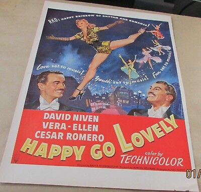 Merchandise & Memorabilia Original Print Ad 1951 Movie Happy Go Lovely David Niven Technicolor Romero