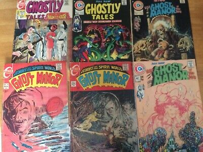 6pc comic book lot of Ghost Manor And Ghostly Tales