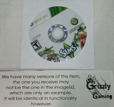 USED The Sims 3 Microsoft XBOX 360 (Disc Only)