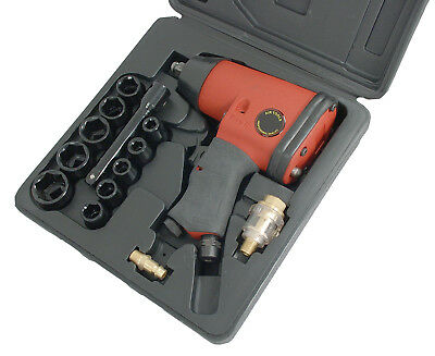 "CT0680 17PC 1/2"" Drive Pistol Grip Air Powered Impact Wrench Kit With Sockets"