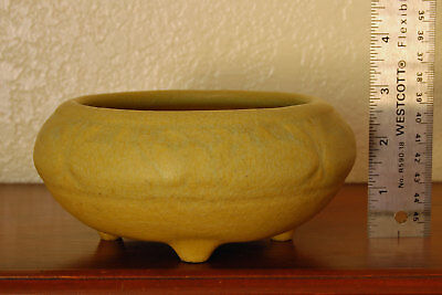 """Antique Rookwood Arts & Crafts Footed Cabinet Bowl """"XI"""" 1911 #1351 Yellow Ochre"""