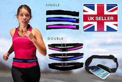 Women's Men's Smart Phone Running Jogging Belt Money Keys iPhone Bum Bag UK