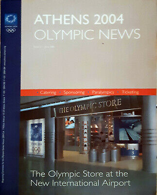 Athens Olympic 2004 - 2 official bullettin nr.3 and 12 torch ticket sponsor