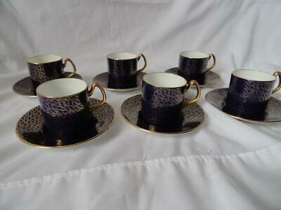 Set of 6 Vintage COALPORT Bone China Demitasse Cups and Saucers