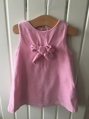 Baby Girl's Clothes 6-9mths - Stunning Pink Velvet Lined Bow Dress 🐹🐹🐹