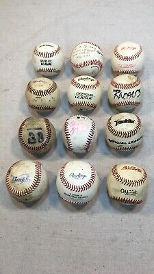 Rare Lot Of 21 Rawlings Can Am Baseballs Vintage Miles Wolff Excellent Canadian Sporting Goods