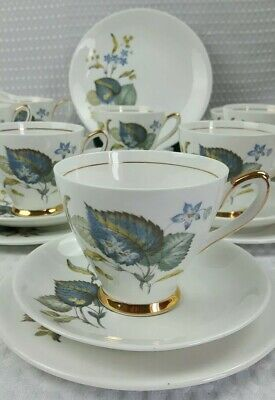 Windsor 1950's Bone China 21 Piece Tea Set - Vintage Excellent Condition