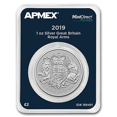 2019 Great Britain 1 oz Silver Royal Arms (MintDirect® Premier) - SKU#189491