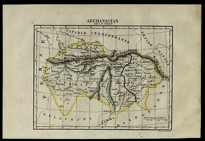 Afghanistan by itself 1837 Tardieu Perrot miniature engraved map