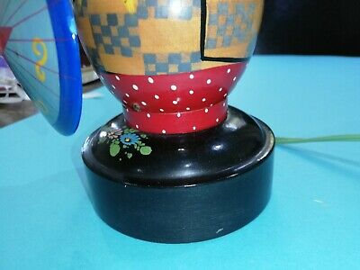 Vintage Oriental Lady with baby  Musical  Box & Lamp. Originally brought Penang.