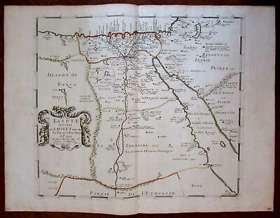 Egypt North Africa Nile source Mts. of Moon Arabia c.1650 map de la Rue Marietta