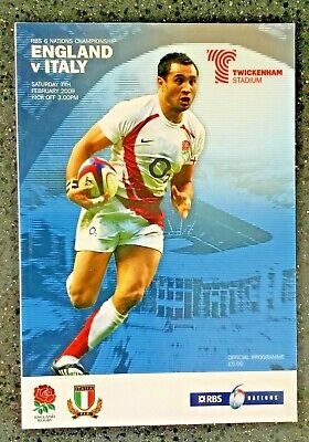 Rugby Union Programme : England v Italy RBS 6 Nations  Twickenham 2009