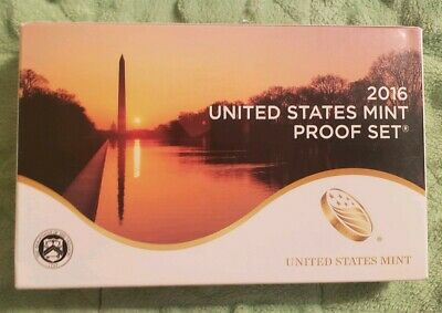 2016 United States Mint Proof Set 13 Coins Complete with Box & COA #214