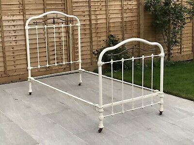 Victorian Single Metal And Brass Bed