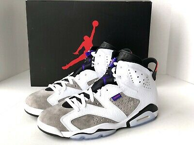 new products ca137 19c1f Air Jordan 6 Retro LTR Flint White Concord Sneaker Size 11