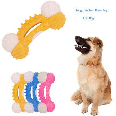 Dog Chew Toy Aggressive Chewer Indestructible Dog Toy Tough Rubber Bone Toy