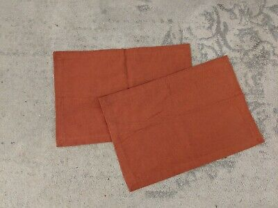 Set Of Two Pier 1 Imports Burnt Red Place Mats