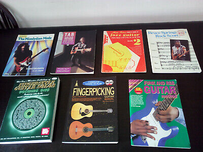 Guitar Study Books Collection CDs Fingerpicking Fingerstyle Rock Funk R B Jazz