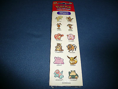 POKEMON Sticker Pokemons Pokemon Go Aufkleber Pikachu NEU Nintendo