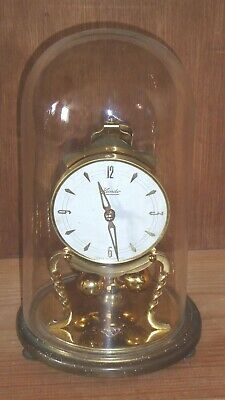 Vintage Kundo 400d anniversary glass dome clock, needs new suspension spring