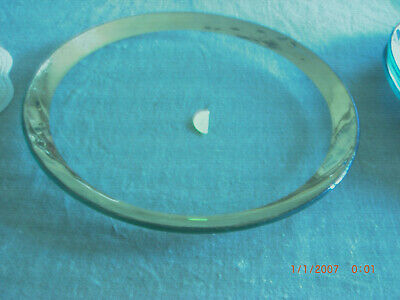 """Signed AnnieGlass Roman Antique Gold12"""" Service Plate Charger 1985 #1"""