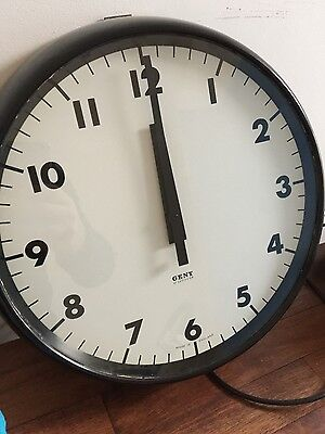 Gent Gents of Leicester Industrial Railway Station Platform Factory Clock