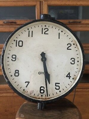Gents Gent Of Leicester Clock Industrial Vintage Antique Railway Factory Station