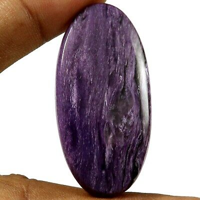 Charoite Natural Cabochon Oval Loose Gemstone 58.55ct HW12