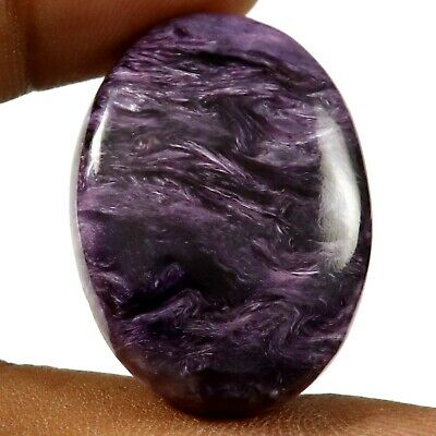 Charoite Natural Cabochon Oval Loose Gemstone 44.45ct HZ47