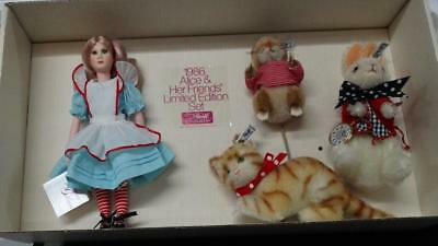 """1986 Suzanne Gibson /Steiff """"Alice And Her Friends"""" Limited Edition 1116 / 3000"""