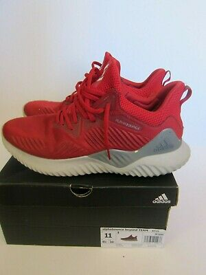 Adidas AlphaBounce Beyond TEAM Knit Men's Running Shoes - Red Size 11 - B37226