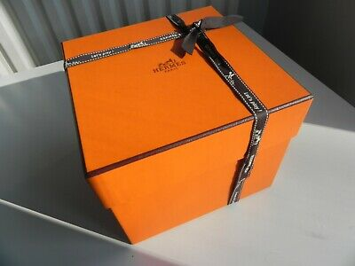 HERMES Small Authentic Storage Cardboard Empty Box + Ribbon