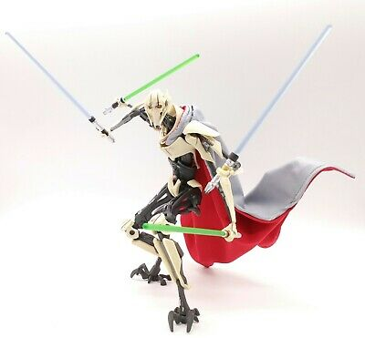 Gray & Red Cape for Star Wars Black Series General Grievous (no figure)