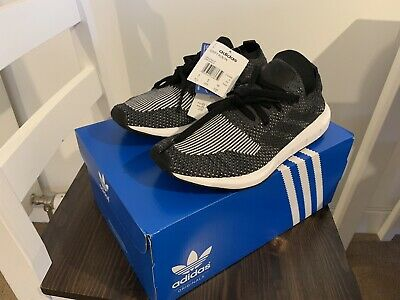 pretty nice 0a6ef 77fff adidas Originals Swift Run PK Prime Knit Black   Grey Size 5 UK 38EU New RRP