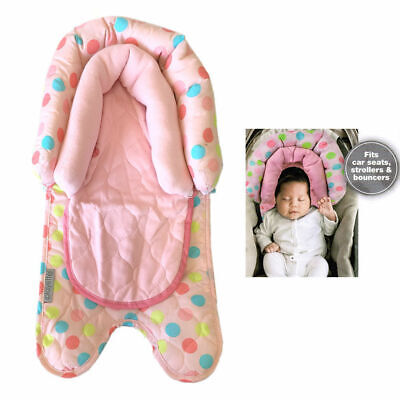 Pink 2 in 1 infant Baby Newborn Head/Neck Support for car seat/carrier stroller